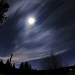 Moon Clouds and Orion