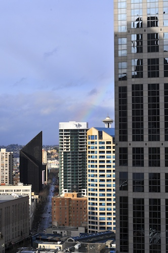 Rainbow and Space Needle
