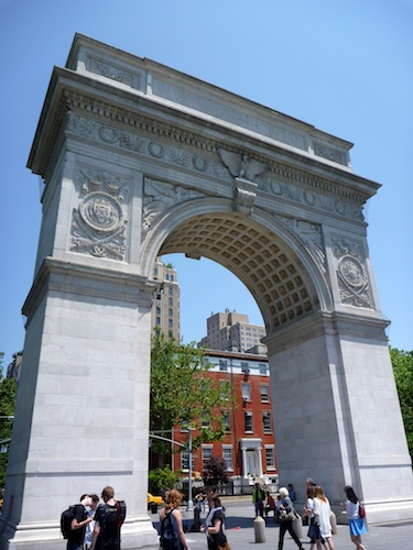 Washington Square Monument. Also, where many people tried to sell me things...