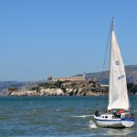 Sailboat and Alcatraz
