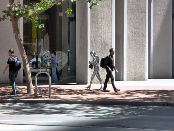 You see everything in San Francisco... A robot? Really?