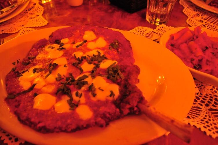 Excellent veal parmigiana at Filomena.
