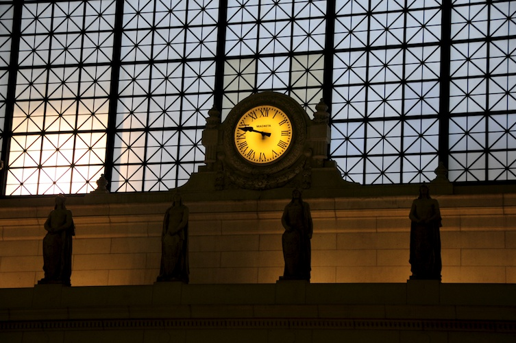 Clock inside Union Station.