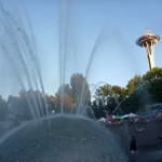 The fountain and the Space Needle. I can now say I have run through the fountain!