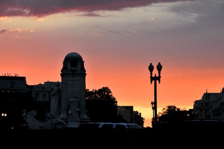 DC sunset.
