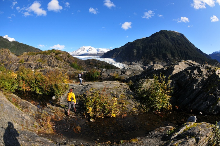 Closing in on the Mendenhall Glacier.