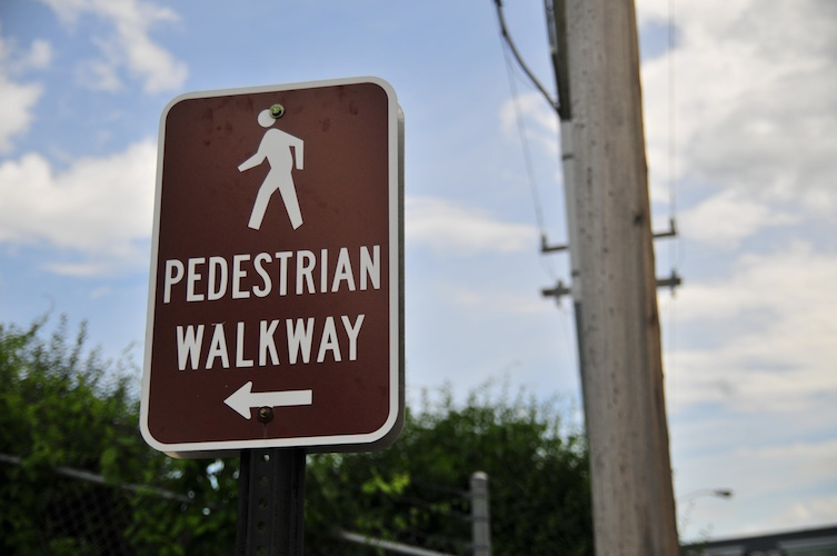 It was a plain walkway for sure, but pedestrian is a little harsh.